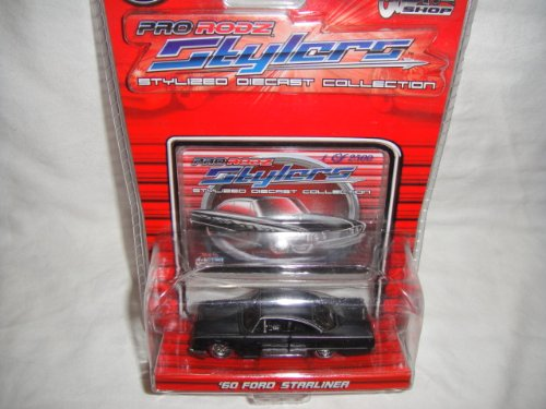 MAISTO 1:64 PRO RODZ STYLERS COLLECTION BLACK CHASE LIMITED EDITION 1 OF 2,500 1960 FORD STARLINER DIE-CAST COLLECTIBLE