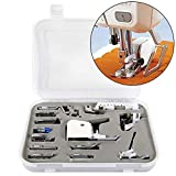 daffodilblob 15Pcs Multifunction Home Sewing Machine Foot Feet Presser for Brother Singer Low Shank All Purpose/Zigzag Foot