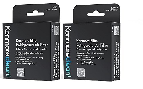 Kenmore elite air filter 469918 fits - LG refrigerator air filter LT120F - 9918 Kenmore replacement filter for IFXC24726s - IFX28968st - IFXS30766s - IFX31925st - IFX25991st - ADQ73214404 - 2 PACK by Kenmore