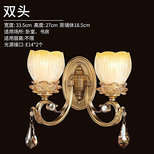 American Einfachheit studie Kupfer Wandleuchte Schlafzimmer Wohnzimmer Wand Lampen Lampen, Doppel-Kopf