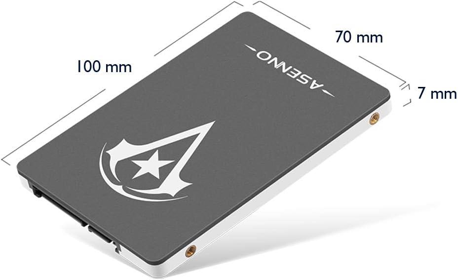 ASENNO 1TB 960GB 512GB 2,5 Pulgadas SSD con 1024 MB de Memoria ...
