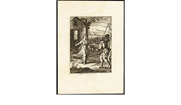 Religioso antiguo ThePrintsCollector cruzerlite-Jahel-Barak-Sisera-Biblia-Bouttats-Spanoghe-1784 Obras de arte y material decorativo