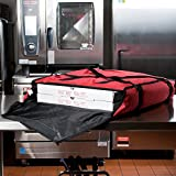 San Jamar PB25 25'' x 26'' x 6'' Nylon Insulated Red Pizza Delivery Bag