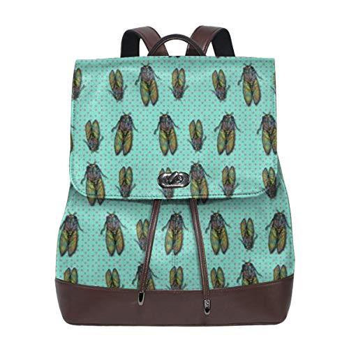 Fashion Leather Backpack Cicada Spot Purse Waterproof Anti Rucksack PU Leather Bags