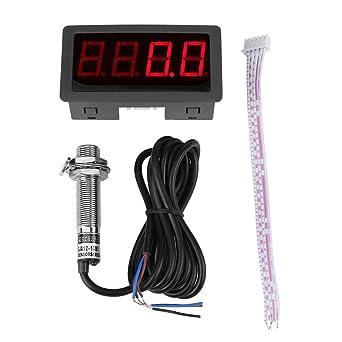 Dc8 24v 30ma 4 Digital Led Drehzahlmesser Drehzahlmesser Hall Näherungsschalter Sensor Npn Rot Gewerbe Industrie Wissenschaft