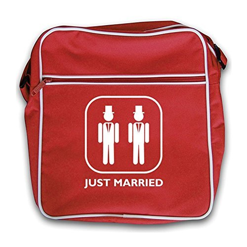 Groom Groom Bag and Married Retro Flight Just Red Red PnF5R5