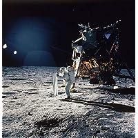 Foto astronauta Edwin Buzz Aldrin de pie sobre Luna Apolo 11Misión 1969