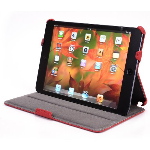 - iPad mini PU Leather Case with Kickstand - Red