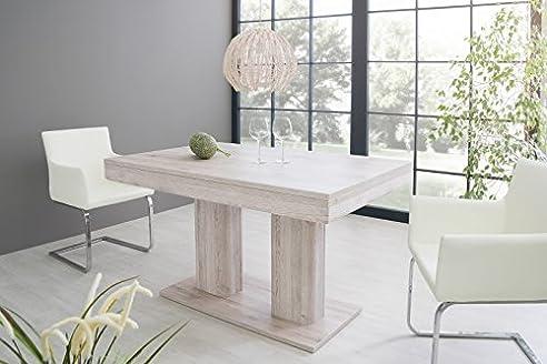 Esstisch U0027Milesu0027 Küchentisch Esszimmertisch 140 220cm Ausziehbar Modern,  Farbe:Sorrento Eiche