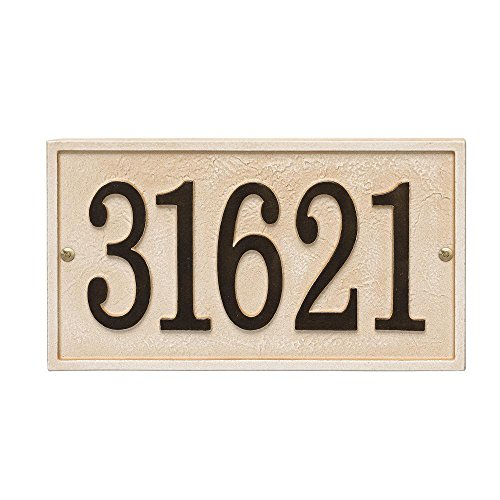 Whitehall Custom Stonework RECTANGLE Aluminum Address Plaque - 11