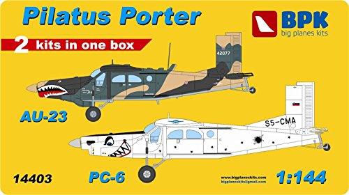 Pilatus Pc (PLASTIC MODEL Pilatus Porter AU23 & PC-6 (2 kits in box) set1 1/144 BPK 14403)