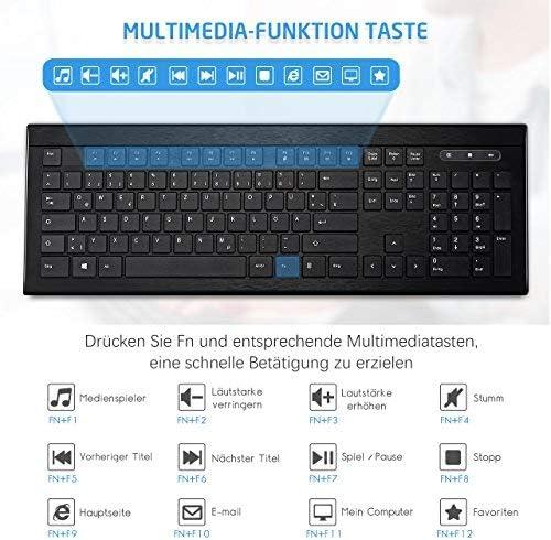 Topelek Muisset, draadloze ultradunne toetsenbord muiscombo