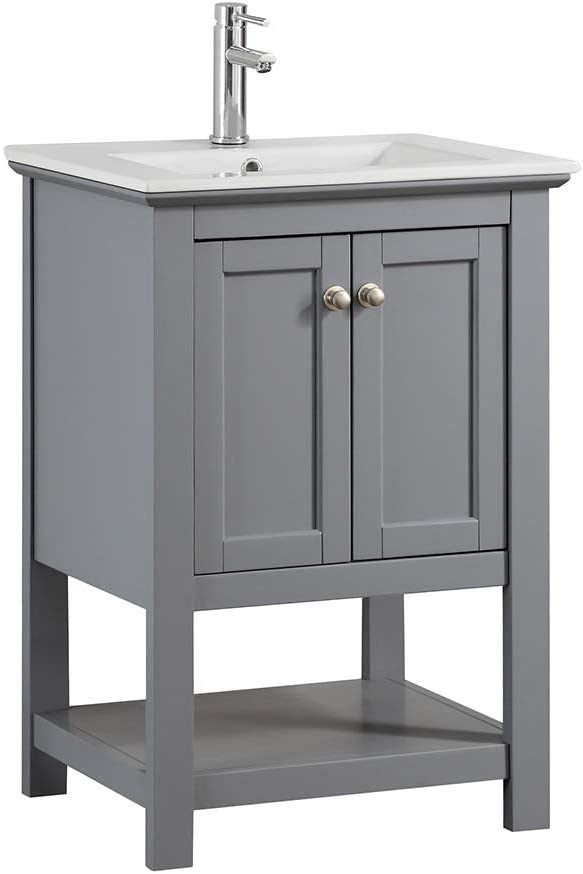 Fresca Manchester 24 Gray Traditional Bathroom Vanity