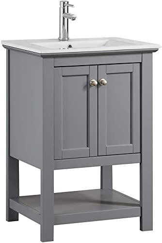 Fresca Manchester 24 inch Gray Traditional Bathroom Vanity