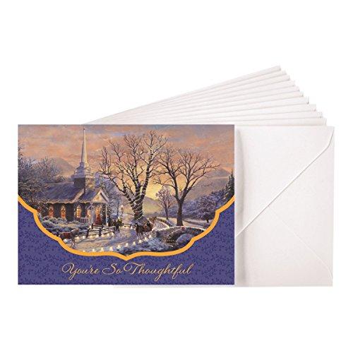 Blank Christmas Notes - Thomas Kinkade - Church