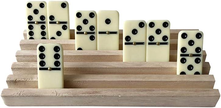 kylew 4PCS Hardwood Mah Jong//Mah Jongg//Domino Wood Racks Domino Trays Wood Domino Racks Domino Holders for Professional Players