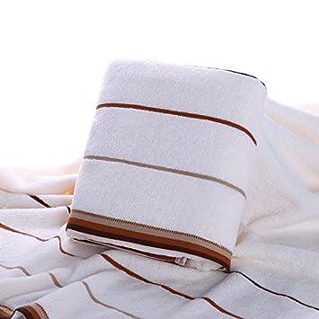 A gruesas toallas suaves y cómodas de banda absorbente pareja adult large multi-color del cabello, Toalla de Baño, Toalla de baño, blanco: Amazon.es: Hogar