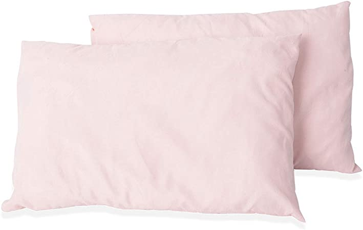 Set of 2pcs Blush 100/% Polyester Travel Pink Roll Go Pillow Comfortable Cushion