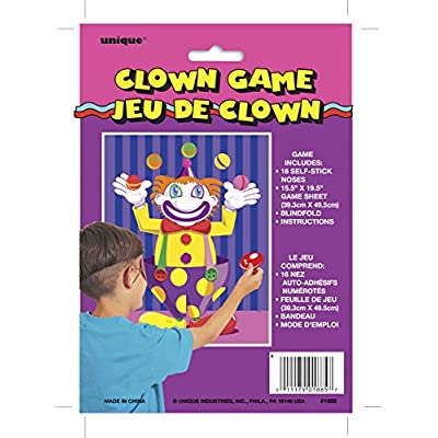 Pin the Nose on the Clown Party Game for 16: Kitchen & Dining