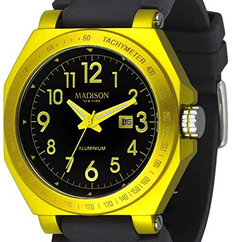 Madison Candy - Madison Candy Time Black Dial Yellow Aluminium Unisex Watch G4452-12