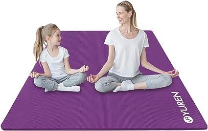 Yuren Large Yoga Mat Non Slip 4x7 Ft Extra Thick High Density Nbr Foam Exercise Mat 2 5 Inch Home Gym Workout Fitness Mat Mats Amazon Canada