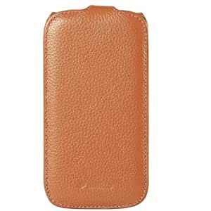 Melkco Leather Case for Samsung Galaxy S4 GT-I9500 - Jacka Type - (Classic Vintage Brown) - SSGY95LCJT1BNCV