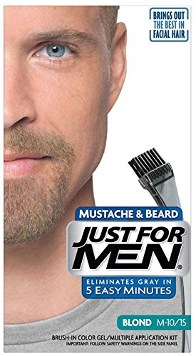 Just For Men Brush-In Color Mustache & Beard, Blond
