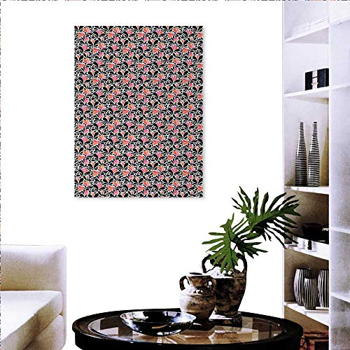 Abstract Stickers Wall Home Paisley Style Pattern Water Splashes Ombre Motifs Floral Influences Fashion Stickers Wall 20