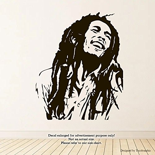 Bob Marley Wall Decals Legends Of Music Stickers Decorative Design Ideas For Your Home or Office Walls Removable Vinyl Murals EC-1132 (Best Bob Marley Tattoos)