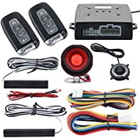 EASYGUARD Car alarm system keyless entry pke remote engine start stop push start stop automatically lock or unlock car door universal version fits for most dc12v cars ec003n-k