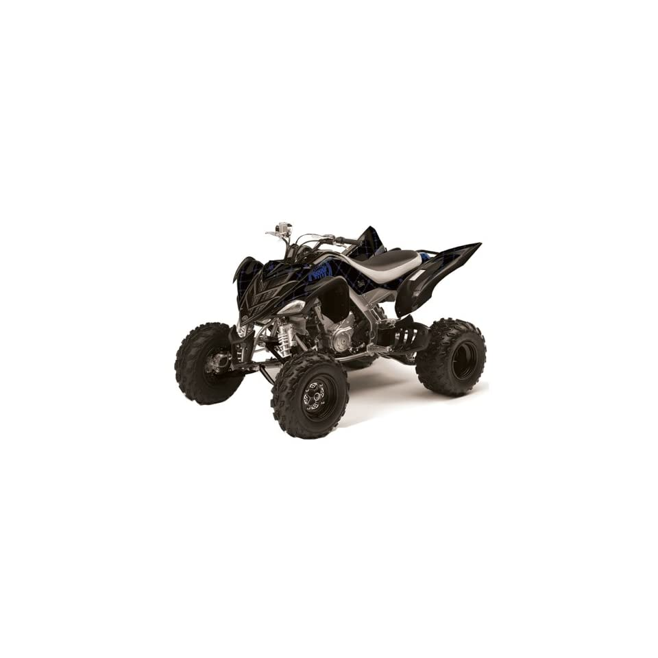 Silver Star AMR Racing Yamaha Raptor 700 ATV Quad Graphic Kit   Reloaded Bla