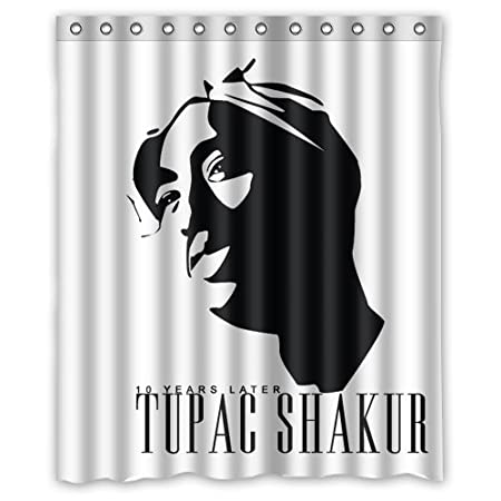 Wholesale Tupac Shakur Vector Custom Shower Curtain 60 X 72 Inch The Portable Amazoncouk Kitchen Home