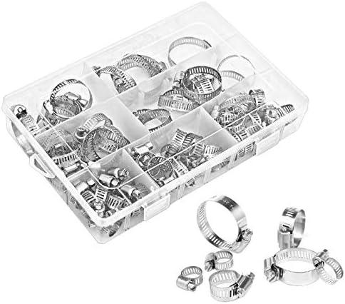 7 tailles Sweetone Lot de 60 colliers de serrage professionnels en acier inoxydable 304-8 /à 38 mm Colliers de serrage en m/étal