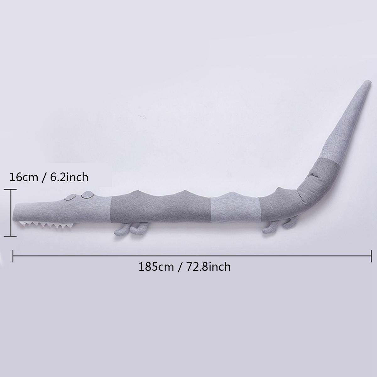 peluche de crocodile cr/éative oreiller berceau pour enfant coussin oreiller en forme danimal de bande dessin/ée Tour de lit garniture pour berceau de b/éb/é rembourrage cadeau pour nouveau-n/é jouet barreaux de lit