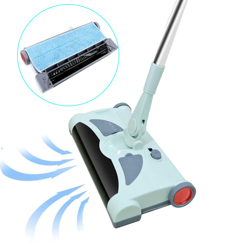 Electric Floor Cleaner Mop Cordless Stick Vacuum for Floor Cleaning Rechargeable Electric Sweeper Mop Combo Household Cleaning Supply for Indoor Any Surfaces