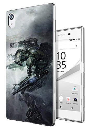 002929 - Robot Fighter Transformer Virtual reality Design Sony Xperia Z3 Fashion Trend CASE Gel Rubber Silicone All Edges Protection Case Cover