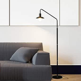 ACHNC Lampara Pie Salon,LED Minimalista Moderna Lámparas de Pie Para Sala de Estar, Dormitorio, Oficina, Lámpara de Lectura E27 Luz de Piso,Negro: Amazon.es: Iluminación