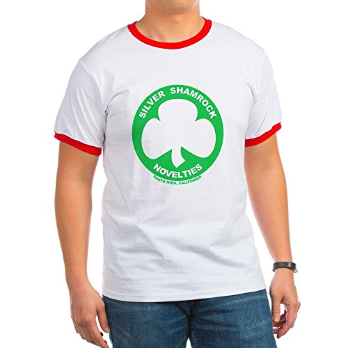 CafePress - Silver Shamrock Novelties Ringer T - Ringer T-Shirt, 100% Cotton Ringed T-Shirt, Vintage Shirt -
