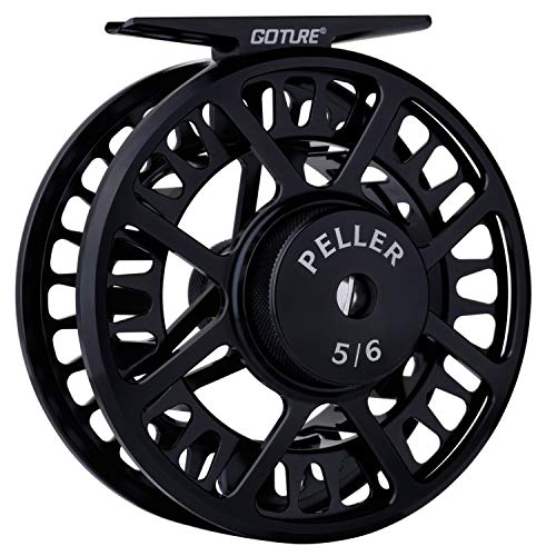 Goture Fly Reel - Peller Fly Fishing Reel with Large Arbor 7/8 5/6 Weights CNC-machined Aluminum Alloy Body Spool 2+1BB Freshwater