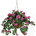 Nearly-Natural-6608-Bougainvillea-Hanging-Basket-Decorative-Silk-Plant-Beauty