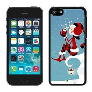 Diy Design Iphone 5C TPU Case Merry Christmas Black iPhone 5C Case 34