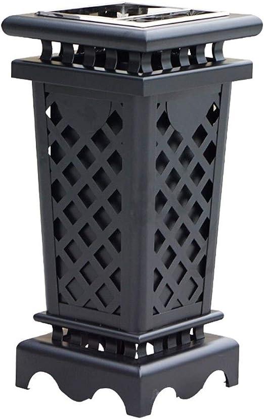 Cubos de Basura para Exterior Contenedores de reciclaje, Bote de basura Bote de basura de hierro
