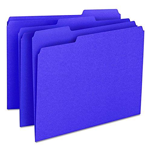 - Smead File Folder, 1/3-Cut Tab, Letter Size, Purple, 100 per Box (13043)