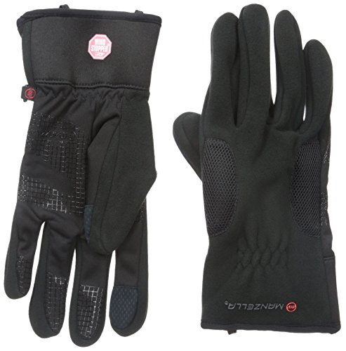 Manzella Liner Glove - Manzella Men's Tempest Windstopper Touch Tip Gloves, Black, X-Large