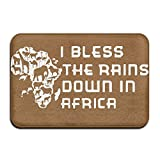 Youbah-01 Indoor/Outdoor Area Rug Floor Mat With I Bless The Rains Down In Africa-2 Printed For Livingroom