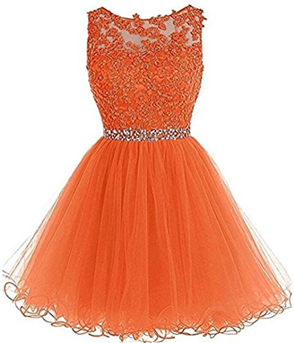 Quinceanera New Gown (Wholesale Price Mother of Groom Mitzvah Quinceanera Dress Short Gowns Orange,Size 8)
