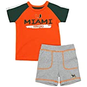 Infant Miami Hurricanes Tee Shirt and Shorts Set - 3 to 6 Months