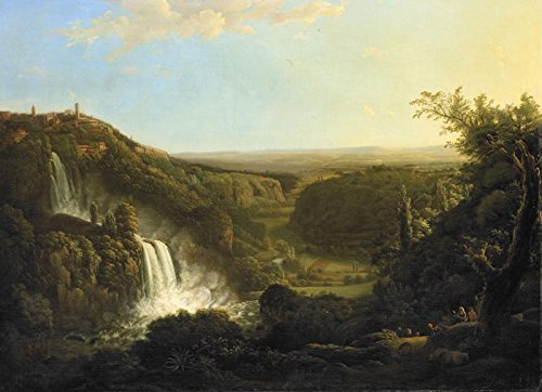 Italian Landscape in the Valley of the Aniene River with the Waterfalls of Tivoli by Cornelis Apostool. Wall Decal - Peel & Stick, Removable (24