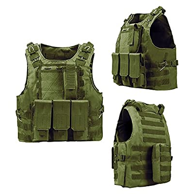 unho Tactical Airsoft Vest Paintball Combat Military Swat Assault Army Police Vest for Outdoor Hunting Shooting CS Games Fishing, Army Fans,CS War Game,Survival Game, Combat Training