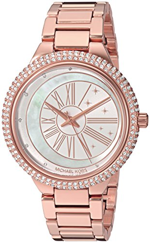 Michael Kors Women's Taryn Analog-Quartz Watch with Stainless-Steel Strap, Rose Gold, 18 (Model: MK6551)